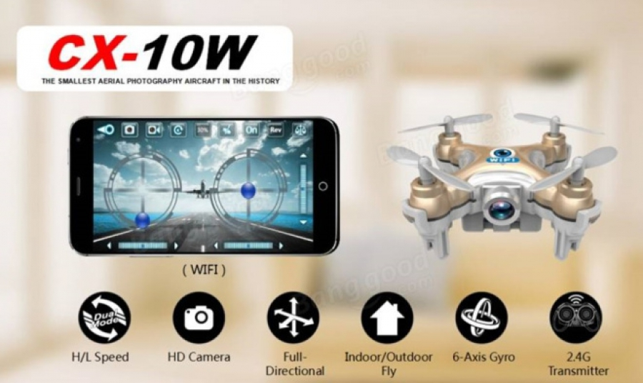 Quadrocopter cheerson cx 10w avec Aliexpress